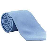 John Lewis Fine Twill Plain Silk Tie Light Blue