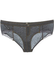 Diesel 'Ufpn Celebity' Lace Brief Grey