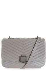 Topshop Quilted Crossbody Bag Grey