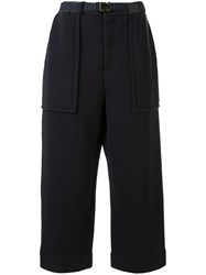 Sacai Belted Trousers Blue