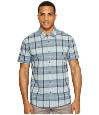 Quiksilver Everyday Check Short Sleeve Shirt Stone Blue Check Men's Short Sleeve Pullover