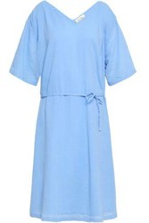 American Vintage Woman Crinkled Cotton Dress Light Blue