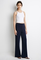 Forever 21 Wide Leg Sailor Pants Navy