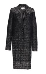 Lanvin Evening Tweed Coat Black