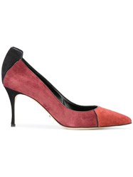 Sergio Rossi Pointed Toe Pumps Red