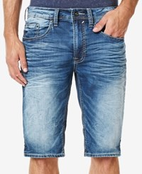 Buffalo David Bitton Men's Parker X Slim Fit Stretch Denim Shorts Mid Blue