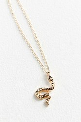 Urban Outfitters Simple Snake Charm Necklace Gold