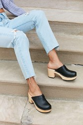 Swedish Hasbeens Louise Clog Black