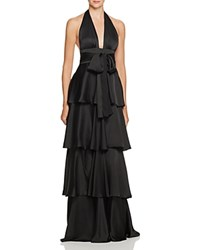 Jill Stuart Silk Halter Neck Gown Black