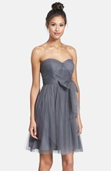 Women's Jenny Yoo 'Wren' Convertible Tulle Fit And Flare Dress Shadow Grey