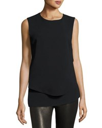 Opening Ceremony Crepe Overlay Sleeveless Top Black
