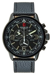 Swiss Military Hanowa Arrow Chronograph Watch Black