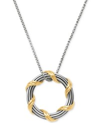 Peter Thomas Roth Two Tone Circle 20 Pendant Necklace In Sterling Silver And 18K Gold Plate