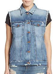Genetic Los Angeles Indie Distressed Denim Vest Nirvana