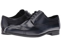 Emporio Armani Cap Toe Medallion Oxford Night Men's Lace Up Casual Shoes Black