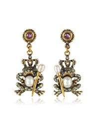 Alcozer And J Earrings The Frog Prince Earrings