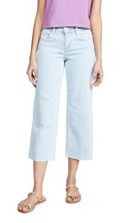 Blank Denim Cropped Wide Leg Jeans Secret Weapon Wash