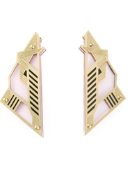 Sarah Angold Studio 'Mirantor' Earrings Metallic