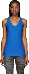 Helmut Lang Blue Baby Terry Racerback Tank