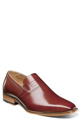 Stacy Adams Saunders Perforated Venetian Loafer Cognac Leather