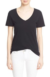 Rag And Bone Women's Jean 'Base' Cotton V Neck Tee Black