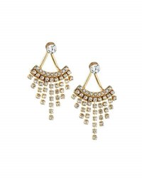 Panacea Golden Crystal Fringe Jacket Earrings