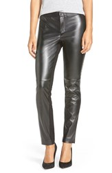 Women's Dknyc Faux Leather And Ponte Ankle Skinny Pants