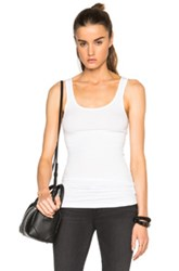 James Perse Long Tank Top In White
