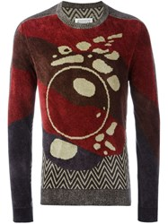 Maison Martin Margiela Mm6 Mix Pattern Jumper Red