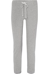 James Perse Slub Cotton Jersey Track Pants Gray