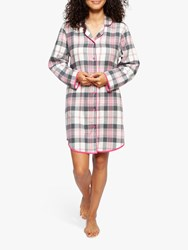 Cyberjammies Lola Check Nightshirt Pink Cream