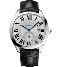 Cartier Drive De Steel And Alligator Skin Watch