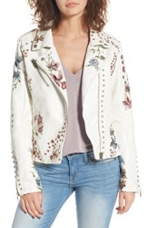 Blank Nyc Women's Blanknyc Embroidered Moto Jacket Mid Summer