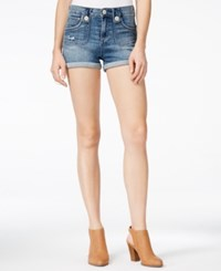 Dittos Alicia Saddleback Antique Wash Denim Shorts
