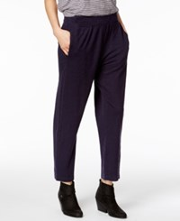 Eileen Fisher Tapered Ankle Pants A Macy's Exclusive Style Midnight