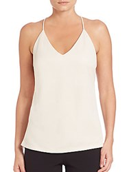 Halston Ring Back V Neck Camisole Parchment