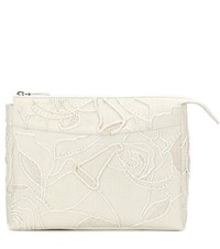 The Row Two For One 12 Embellished Canvas Clutch Beige
