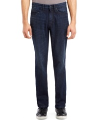 Kenneth Cole Reaction Orit Straight Fit Dark Wash Jeans