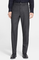 Rag And Bone Classic Wool Flat Front Suit Pants Black