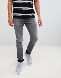 Lee Jeans Luke Slim Tapered Jeans In Grey Worn
