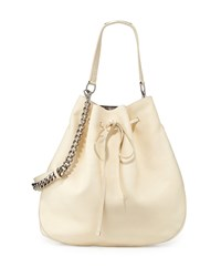 Calfskin Bucket Hobo Bag Off White Women's Ralph Lauren