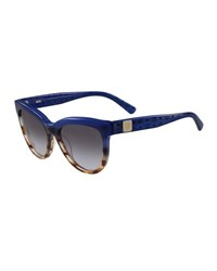 Mcm Cat Eye Two Tone Visetos Sunglasses Blue
