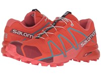 Salomon Speedcross 4 Tomato Red Coral Punch Blue Jay Women's Shoes