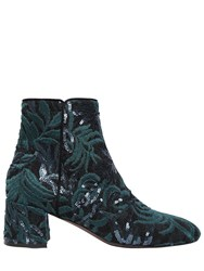 Attilio Giusti Leombruni 50Mm Sequined Lace And Suede Ankle Boots