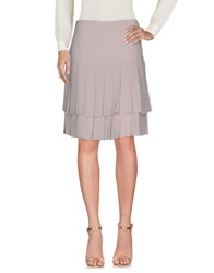 Edward Achour Knee Length Skirts Beige