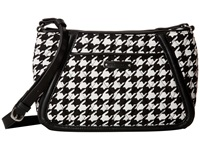 Vera Bradley Trimmed Trapeze Crossbody Midnight Houndstooth Cross Body Handbags Black
