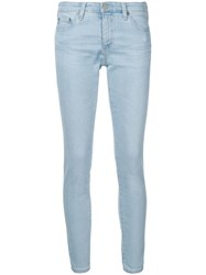 Ag Jeans Low Rise Cropped Blue