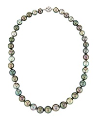 Belpearl Tahitian Round Multicolor Pearl Necklace