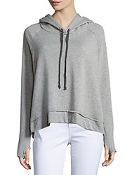 Project Social T Fashion Heathered Long Sleeve Hoodie Heather Grey