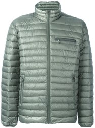 Closed Zip Pocket Padded Jacket Green